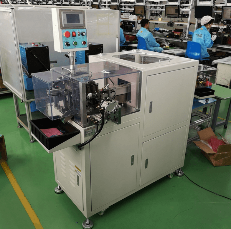 Component lead cutting machine pcb